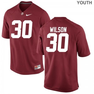Alabama Crimson Tide Red Youth Limited Mack Wilson Jersey Youth XL