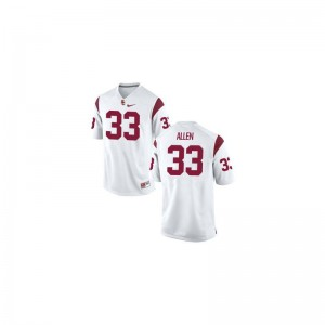 Marcus Allen Trojans Jersey Youth XL Kids Limited White