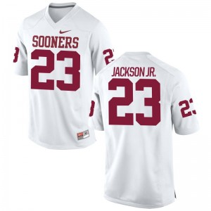 Limited Mark Jackson Jr. Jerseys Youth XL OU Sooners For Kids White