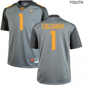 Marquez Callaway Youth(Kids) Jerseys Small Limited Tennessee Vols Gray