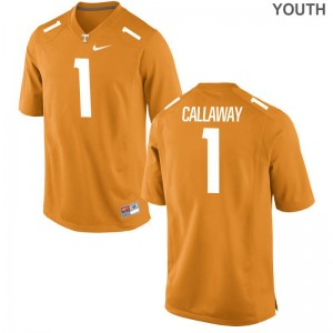 Orange Marquez Callaway Jerseys Youth Large UT Limited Kids