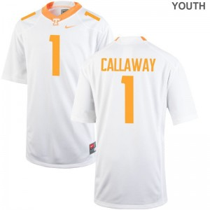 Tennessee Volunteers Marquez Callaway Youth(Kids) Limited Jersey Youth Medium - White