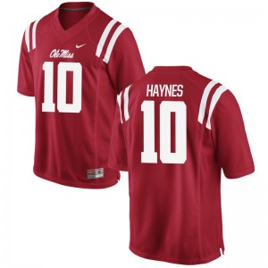 Limited University of Mississippi Marquis Haynes Kids Red Jerseys Youth X Large