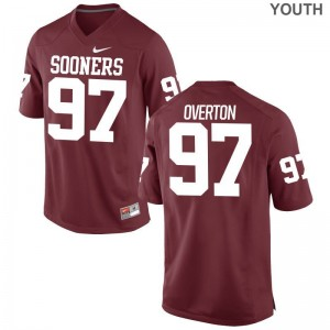 Limited Youth Oklahoma Sooners Jerseys X Large Marquise Overton - Crimson
