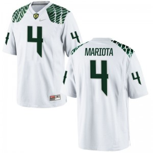 Oregon Matt Mariota Jersey Stitch Youth(Kids) Limited White Jersey