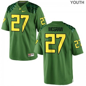 Apple Green Mattrell McGraw Jerseys Youth X Large University of Oregon Limited Youth