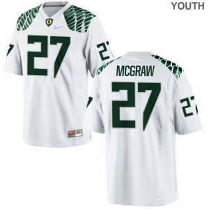 University of Oregon Mattrell McGraw For Kids Limited Jersey S-XL - White