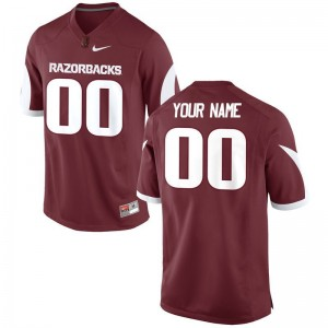 For Men Arkansas Razorbacks Customized Jerseys Cardinal Limited Customized Jerseys