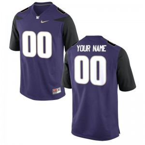 For Men Customized Jerseys NCAA Purple Limited UW Customized Jerseys