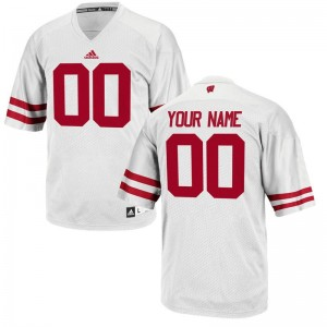 Wisconsin Badgers Mens Limited Customized Jerseys White