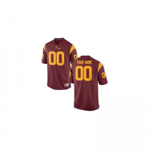 Men Custom Jersey Cardinal Limited Trojans Custom Jersey
