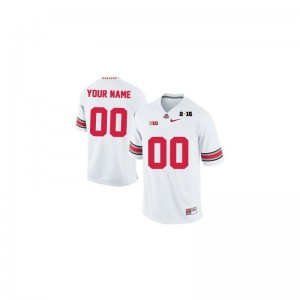OSU Custom Jerseys Large Limited White 2015 Patch Men
