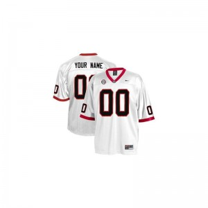 Georgia Bulldogs Custom Jersey Mens Small White Limited For Men