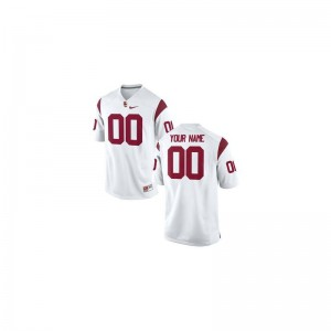 Trojans Custom Jerseys X Large White Limited Men