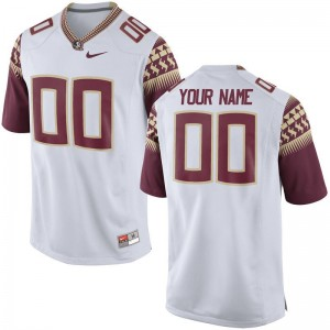 Customized Jersey Seminoles Mens Limited - White