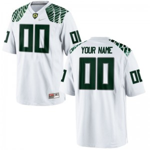 Oregon Ducks Customized Jersey Mens Medium Limited Men White