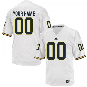 For Men White Custom Jersey 2XL Michigan Wolverines Limited