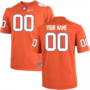 Clemson Tigers Custom Jerseys Limited Mens Custom Jerseys - Orange Team Color