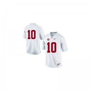 AJ McCarron Alabama Crimson Tide Jerseys Large For Men Limited - #10 White