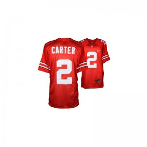 Cris Carter Limited Jersey For Men OSU Buckeyes #2 Red Jersey