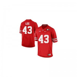 OSU Darron Lee Jerseys #43 Red Diamond Quest 2015 Patch Limited Mens
