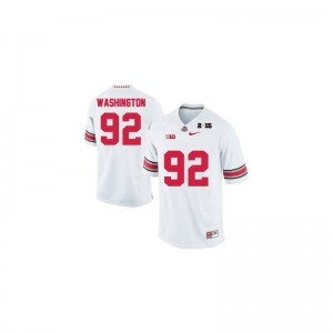 Ohio State Adolphus Washington Limited Mens Football Jerseys - #92 White Diamond Quest 2015 Patch