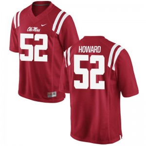 Limited Mens Ole Miss Rebels Jerseys XXL of Michael Howard - Red