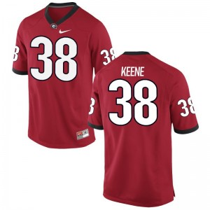 UGA For Men Limited Red Michael Keene Jersey Mens XXXL