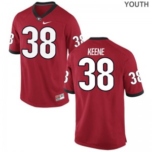 Red Limited Michael Keene Jersey Large Youth Georgia