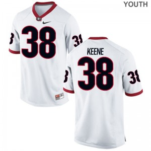 Michael Keene For Kids Jerseys Youth Large Limited Georgia Bulldogs - White