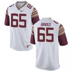 FSU White Youth(Kids) Limited Mike Arnold Jerseys Medium