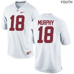 Bama Youth(Kids) White Limited Montana Murphy Jerseys S-XL