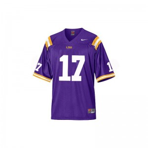 Morris Claiborne LSU Jerseys Youth Large Youth Limited Jerseys Youth Large - Purple