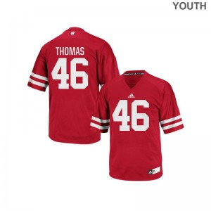 Nick Thomas Wisconsin Badgers Youth Jerseys Red Authentic Jerseys