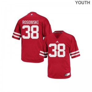 P.J. Rosowski Wisconsin Badgers Jersey Youth X Large Youth(Kids) Authentic - Red