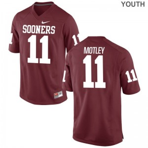 Parnell Motley OU Jerseys Youth Small Crimson Limited For Kids