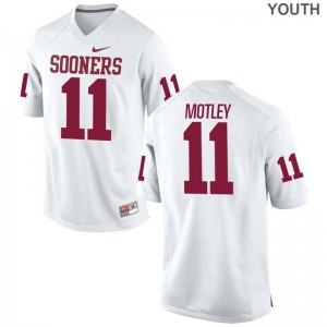 Parnell Motley OU Jersey Youth XL White Limited Youth