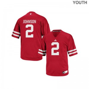 Patrick Johnson Youth Jerseys S-XL Red Wisconsin Badgers Authentic