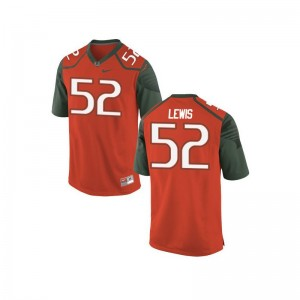 Ray Lewis Miami Hurricanes Jersey Large Mens Orange_Green Limited