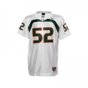 Ray Lewis University of Miami Kids Jersey White Official Limited Jersey