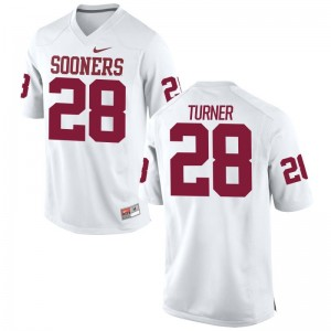 Sooners Reggie Turner For Men Limited White Embroidery Jersey