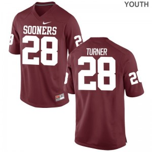 Limited Reggie Turner Jerseys Youth XL OU Sooners Crimson Youth