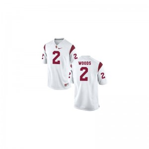 White Robert Woods Jersey Youth X Large USC Limited For Kids