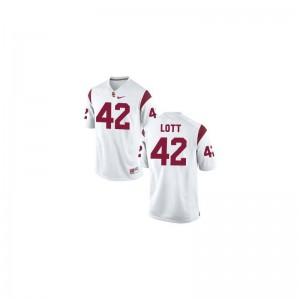 Youth Small USC Ronnie Lott Jerseys Official Youth(Kids) Limited White Jerseys