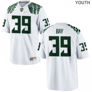 Medium Ducks Ryan Bay Jerseys Player Youth(Kids) Limited White Jerseys