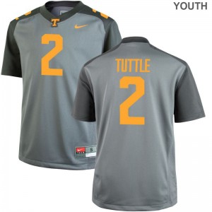 Shy Tuttle Jerseys X Large Kids Tennessee Volunteers Gray Limited