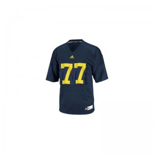 University of Michigan Jerseys Youth Small of Taylor Lewan Limited Youth - Blue