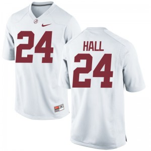 Limited Bama Terrell Hall Mens White Jerseys XXX Large