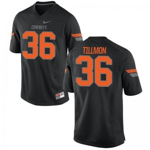 OK State Terry Tillmon Jerseys Youth X Large Youth(Kids) Black Limited