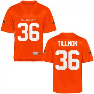Terry Tillmon Jerseys X Large OSU Cowboys Limited Youth - Orange